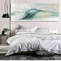 Абстрактный океан волны морской пейзаж холст картина Традиционный книги по искусству пейзажи обои Современная Настенная картина плакат дл
