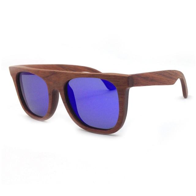 Laura Fée Hommes En Bois lunettes de Soleil Marque Designer Violet Miroir  Lentilles Flexible Temple Pur b4742b45fc4e