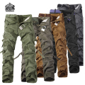 2017 Top Fashion Military Cotton Cargo Pants Men Multi-Pocket Solid Plus Size Trousers Men	 (Asian Size 28-42)