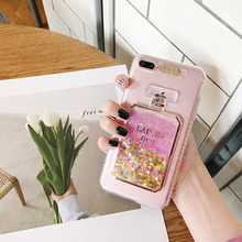 Luxury Glitter Quicksand Cute Perfume Bottle Flash Case for iPhone7 6 6S 7PLus 6/6sPlus Soft Clear Pink Blue & White Cover