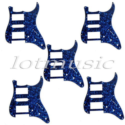 5*Blue Pearl Guitar Pickguard 3 Ply HSH For Electric Guitar Replacement new 1pcs electric guitar pickguard strat st yellow style 3 ply hsh a62