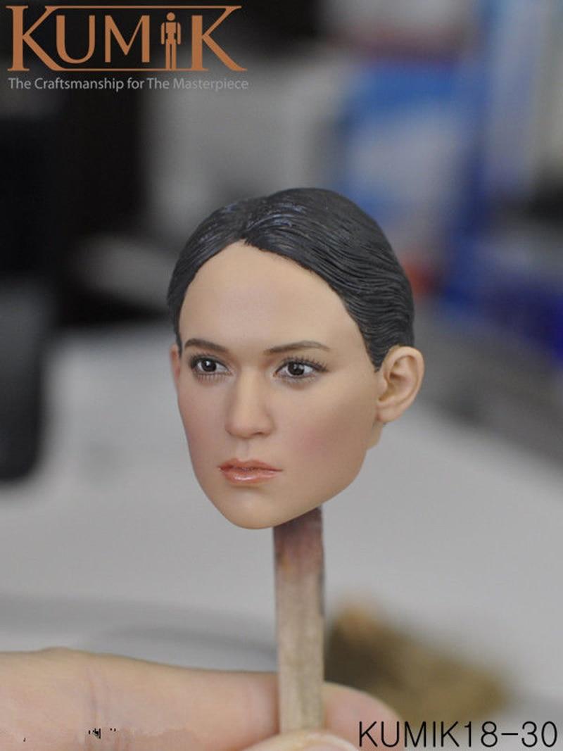 """Superduck 1//6 Female Head Sculpt SDH017A pâle pour TBLeague 12/"""" Hot Toys figure"""