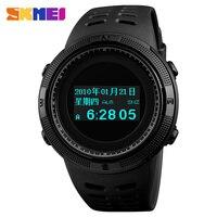 SKMEI Pedometer Calorie Compass Themometer Multifunctional Electronic Sport Watch Men Waterproof LED Digital Watch Male Clock