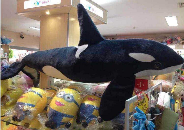 Free Shipping Kids Baby Toy Eating Simulation Marine Animal Large Killer Whale About 130cm Plush Toy For Birthday Gift