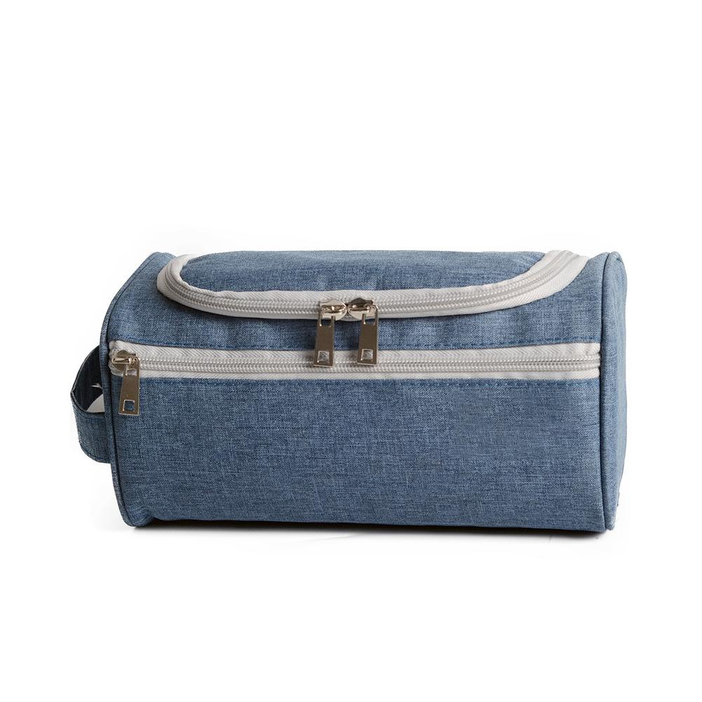 Men's Oxford Cloth Waterproof Wash Bag Travel Wash Storage Bag Toiletry Organizer With Hook