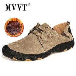 MVVT الراحة حذاء كاجوال الرجال الشقق جلد الغزال حذاء رجالي حذاء جلدي أصلي sapato masculino الشتاء في الهواء الطلق الأحذية