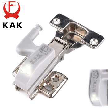 KAK Universal Hinge Light Kitchen Bedroom Living Room Cabinet Cupboard Wardrobe 0.25W Inner LED Sensor Light Furniture Hardware kak 5pcs universal kitchen hinge light bedroom living room cabinet cupboard closet wardrobe 0 25w inner led sensor light