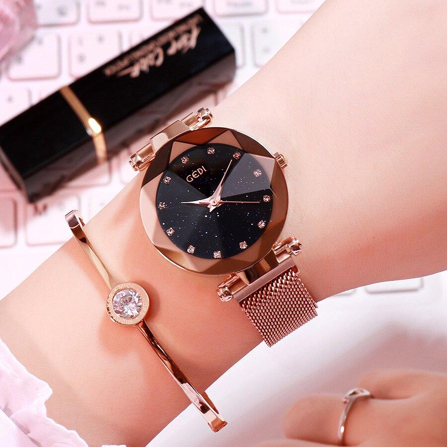 Ins hot magnet women watches GEDI luxury Tik Tok fashion lady watch online hot high quality