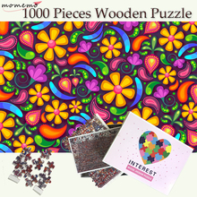 MOMEMO Flower Wooden 1000 Pieces Puzzles Jigsaw Adults Puzzle Games Teenagers Kids Toys Gift