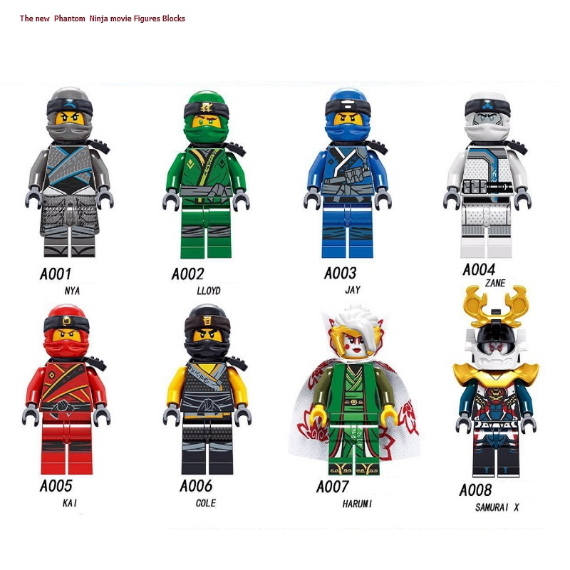 Legoingly Ninjagoes Building Blocks Snakes Jay Zane Nya Lloyd Nuckal Chokun Snake Skeleton Bone Soldier Brick Toys For Children