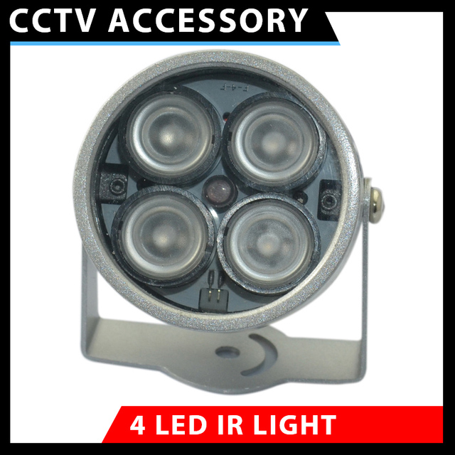 Free shipping 30M Solid metal housing dome illuminator  light invisible IR Infrared LED Night Vision For Security CCTV Camera