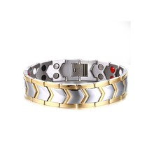 Stainless Steel Bracelet Healthy Magnet Bracelet Men Jewelry Bio Energy Magnetotherapy Father's day Gift Bracelet Energy Health nano bio energy health card and bio energy card pvc plastic anti radiation card supply