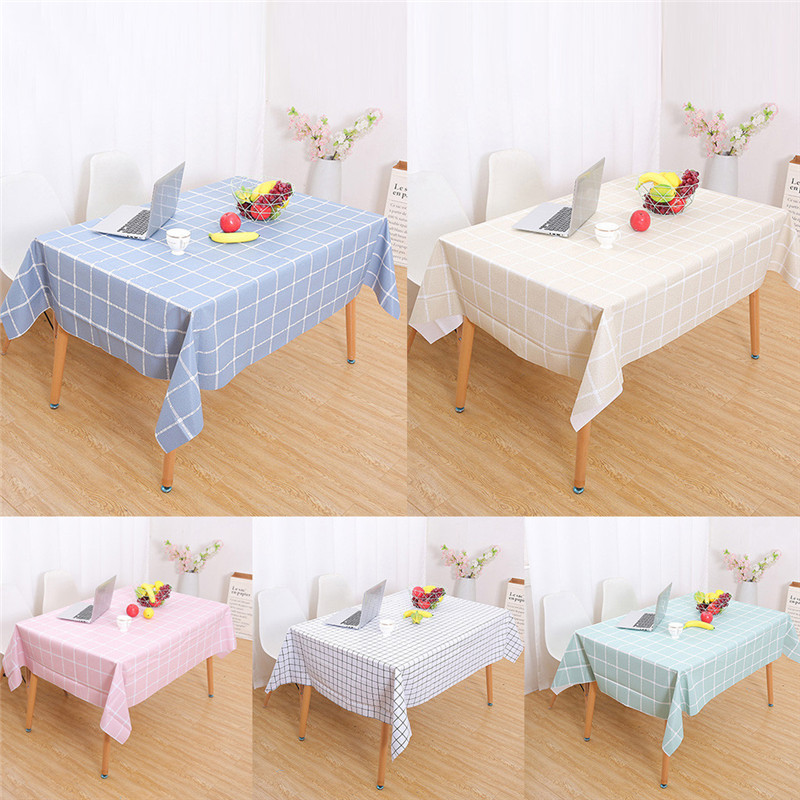 Quality Kitchen Tables: Waterproof Oil Proof PVC Table Cloth Cover Home Dining
