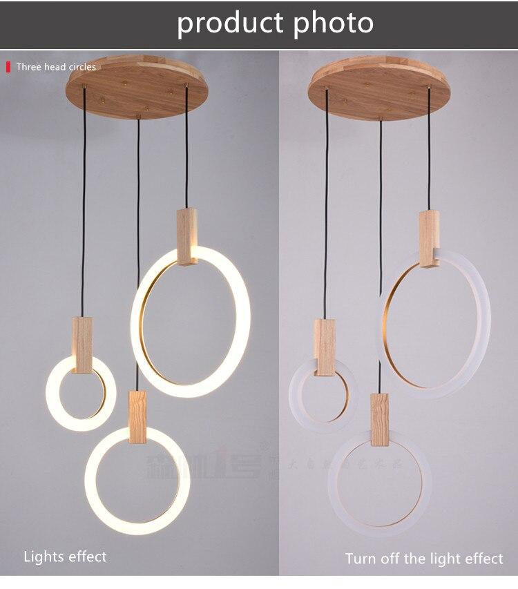 estar suspenso lâmpada quarto luminárias iluminação da escada anel luzes penduradas