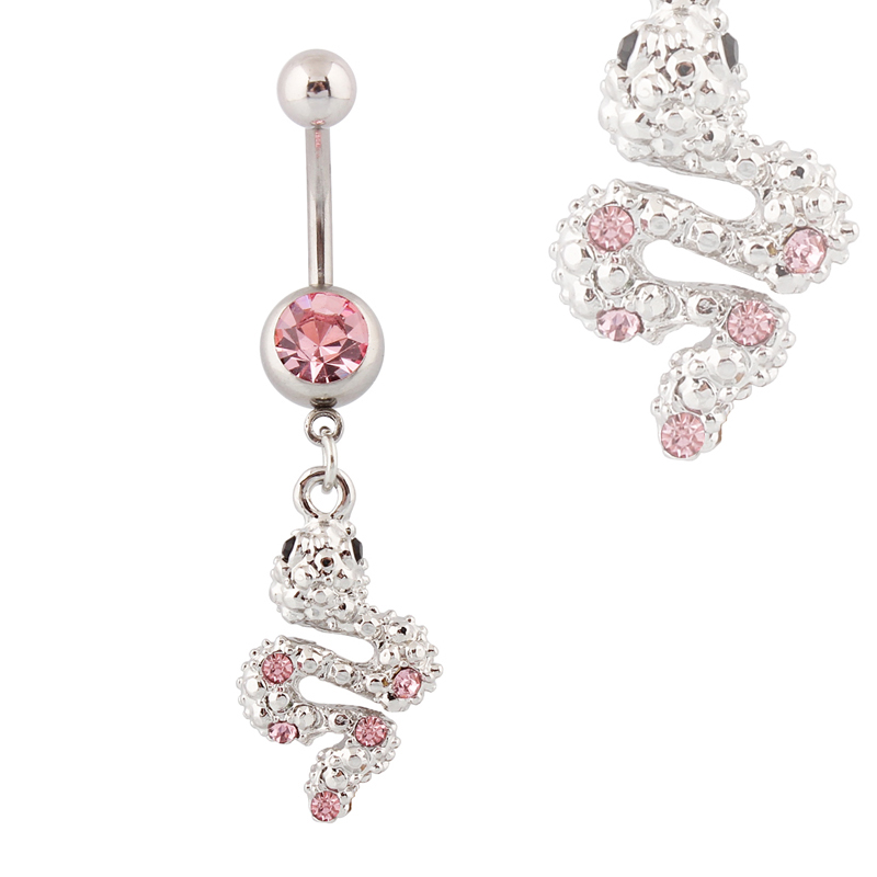 Buy belly button rings snake fashion body for Belly button jewelry store