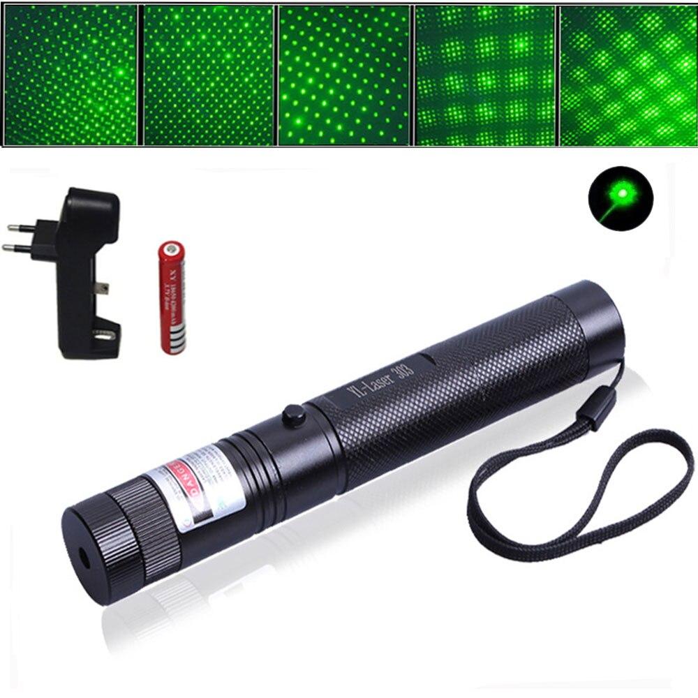 Adjustable Focus Laser Pointer Pen Waterproof 650NM Light Burning Beam Light +18650 Rechargeable Li Ion Battery +Charger