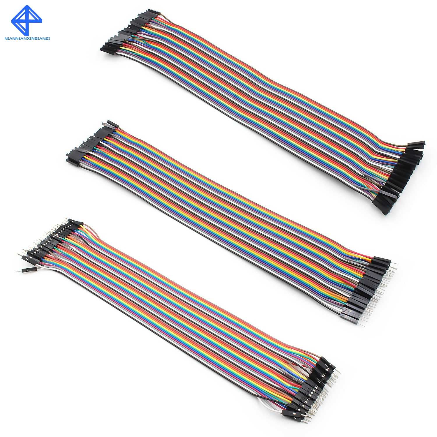 50pcs 3 Pin 20cm 2.54mm Dupont Jumper Cable Wires For Arduino Female T Female