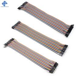 Dupont ligne 120 pièces 20cm mâle à mâle + mâle à femelle et femelle à femelle câble de raccordement Dupont câble pour Arduino