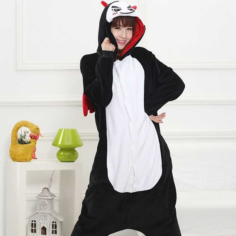 1e9b3e7cecb1 ... Adult Kigurumi Onesie Anime Women Costume Devil Halloween Cosplay  Cartoon Animal Sleepwear Winter Warm Hooded Pajama
