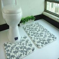 2pcs/set PVC mesh coral fleece floor mats bathroom ground mat set 45*50cm+50*80cm water absorption anti slip anti bacteria rugs