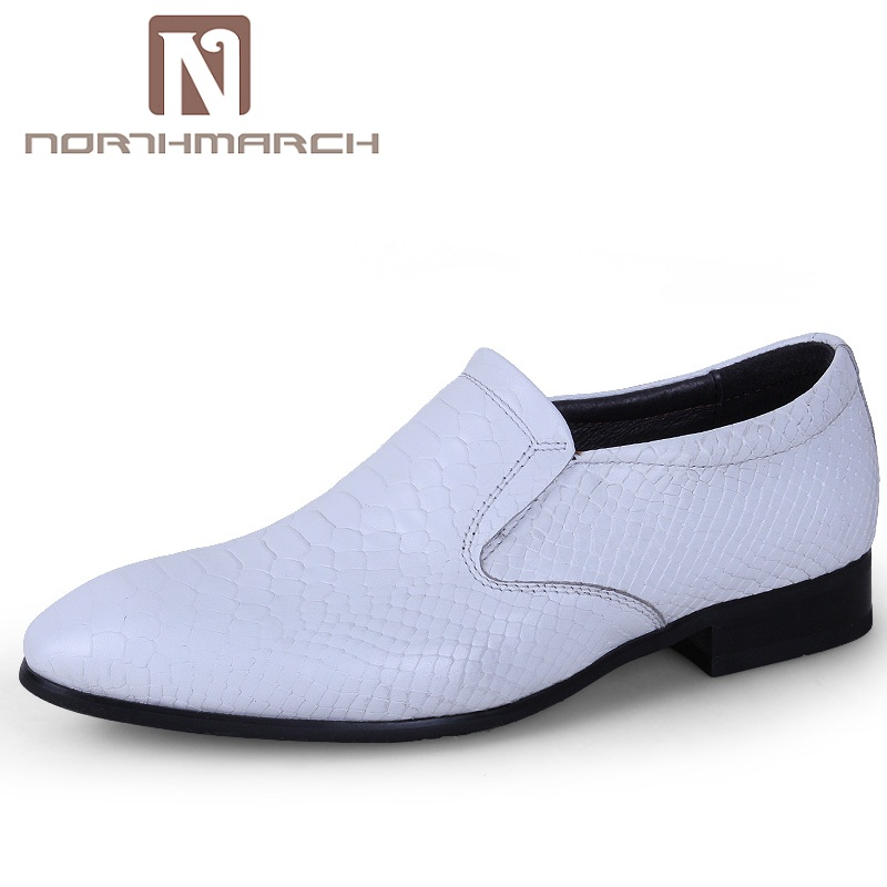 Formal Shoes Shoes Northmarch Large Size Mens Shoes Genuine Leather Fashion Brand Snake Skin Shoes Men Round Toe Slip-on Mens Formal Shoes Sapatos Low Price