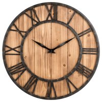 Hot Sale Wall Clock, Creative Round Silent Wooden Wall Clock Decorative Clock for Living Room Kitchen Bathroom Bedroom