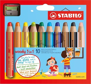 Image 5 - STABILO Woody 3 in 1 Multi Talented Pencil  Assorted Colors Wallet of 6/10/18 Colors