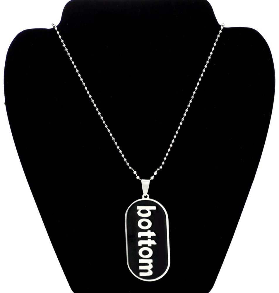 Necklaces & Pendants Clever Youe Shone top Comical Gay Pride Black Dog Tag Necklace Lgbt Stailess Steel Mens Gay Pride Jewelry