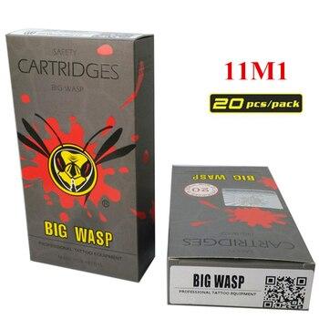 BIGWASP Disposable Gray Cartridge Needle 11 Single Stack Magnum (11M1) Tattoo Needle 20Pcs/Box Supply For Tattoo Machine