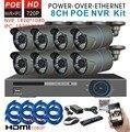 SecuVision 8 Channel 1080 P POE NVR CCTV Kit Sistema de Segurança com 8 PCS Câmera 1.0MP 720 P IP POE 8ch HDMI POE NVR vigilância set