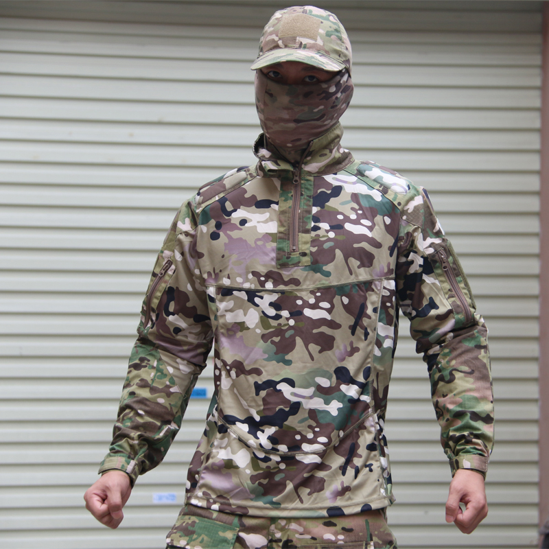 Camouflage suit sets Army Military uniform combat Airsoft uniform jacket pants Army Hunting uniform