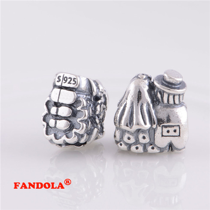 Pandora Women's 925 Sterling Silver Bride and Groom Charm 8ZsO1i7PdP