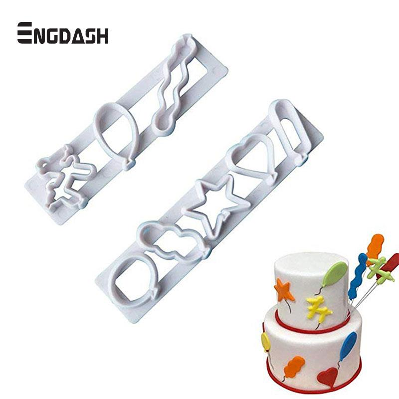 Clever Engdash 2pcs/set Diy Baking Cake Mold Party Fondant Chocolate Cookie Mold Cake Decoration Mold Kitchen Tools High Quality Fine Workmanship Kitchen,dining & Bar