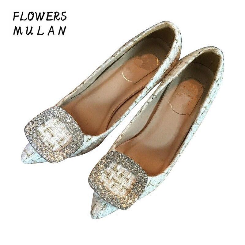 Здесь продается  High End New Design High Heels Shoes Women Elegant Pointed Toe Slip On Female Stiletos Fashion Crystal Square Buckle Nude Shoes  Обувь