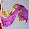 Горячие продажи ручной работы галстук-окрашенные чистый шелк вуали для танцев приятно танцы Шелковый Шарф Шали женщин танец живота шелк шарф