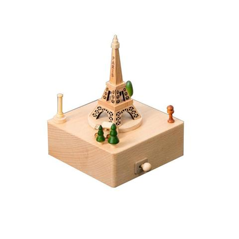 Wooden Music Box Creative Gifts For Kids Musical Carousel Ferris Wheel Boxes Wood Crafts Retro Home Decoration Accessories Islamabad