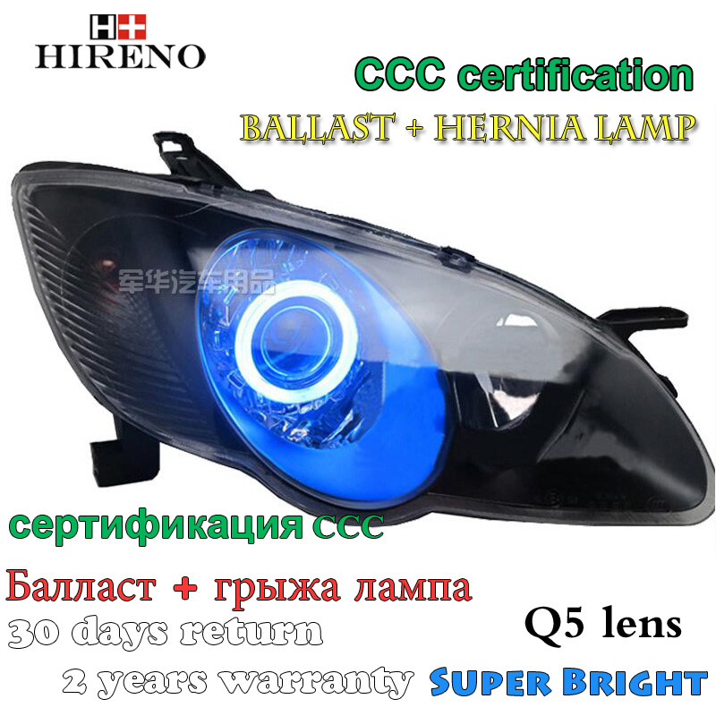 Hireno Modified Headlamp for BYD F3 2008-2014 Headlight Assembly Car styling Angel Lens Beam HID Xenon 2 pcs hireno headlamp for 2016 hyundai elantra headlight assembly led drl angel lens double beam hid xenon 2pcs