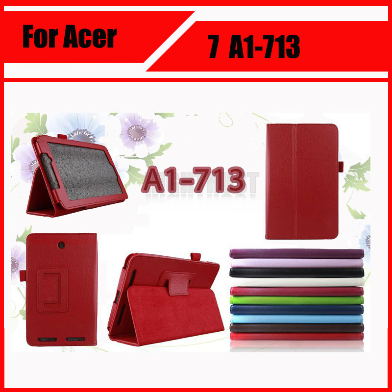 Wholesale High quality ! Pu Leather Stand Tablet Cover Case For Acer Iconia Tab 7 A1 713 A1-713 + Stylus puerh 357g puer tea chinese tea raw pu erh sheng pu er free shippingtd39