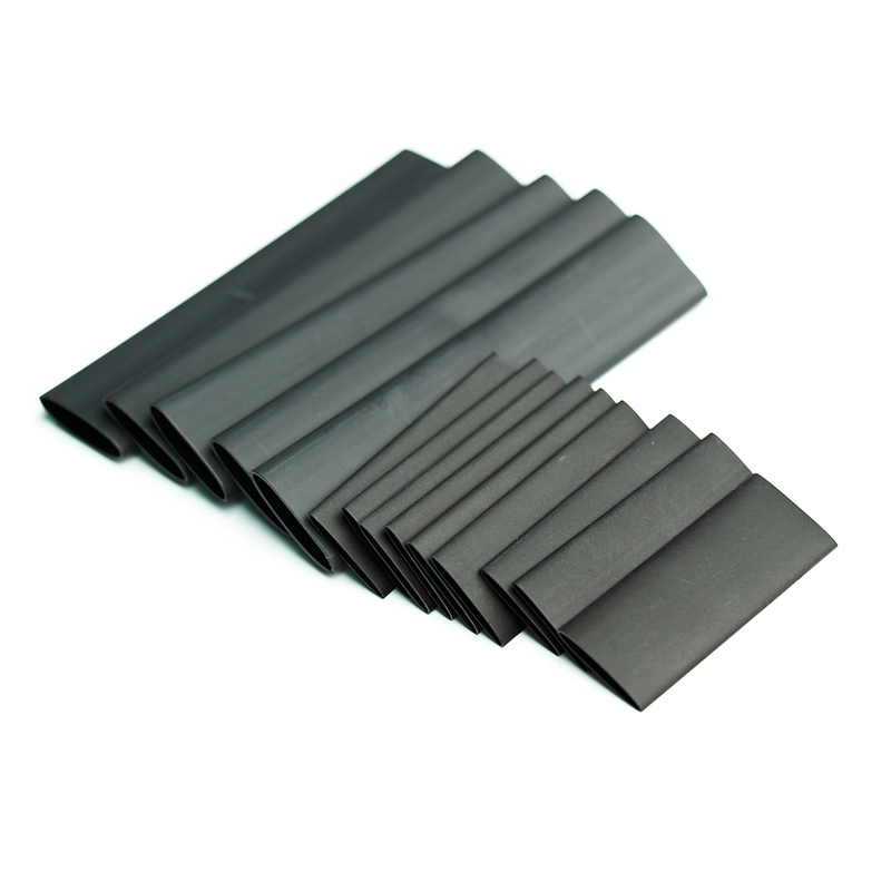 240PCS Black H Polyolefin 2:1/3:1 Halogen-Free Heat Shrink Tubing Tube G Insulated Sleeving Wrap Wire Kit