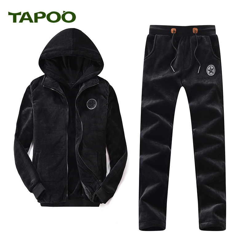 TAPOO 2017 new brand men TAPOO leisure jacket three (vest + sweater + pants) 801