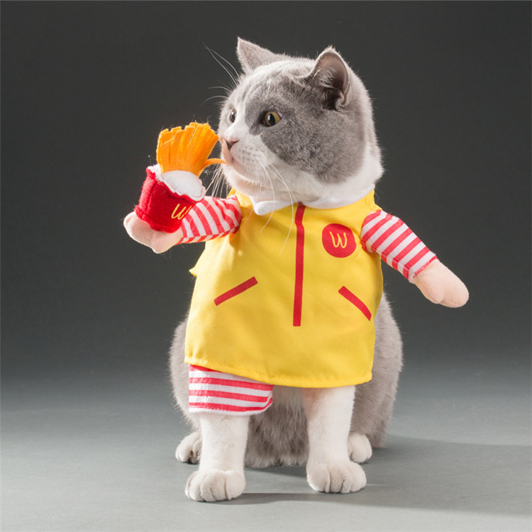Funny Small Cats Clothes Dogs Clothing Waiter Halloween For Dress Pets Cat Costume Products katten kleding vetement chat 2