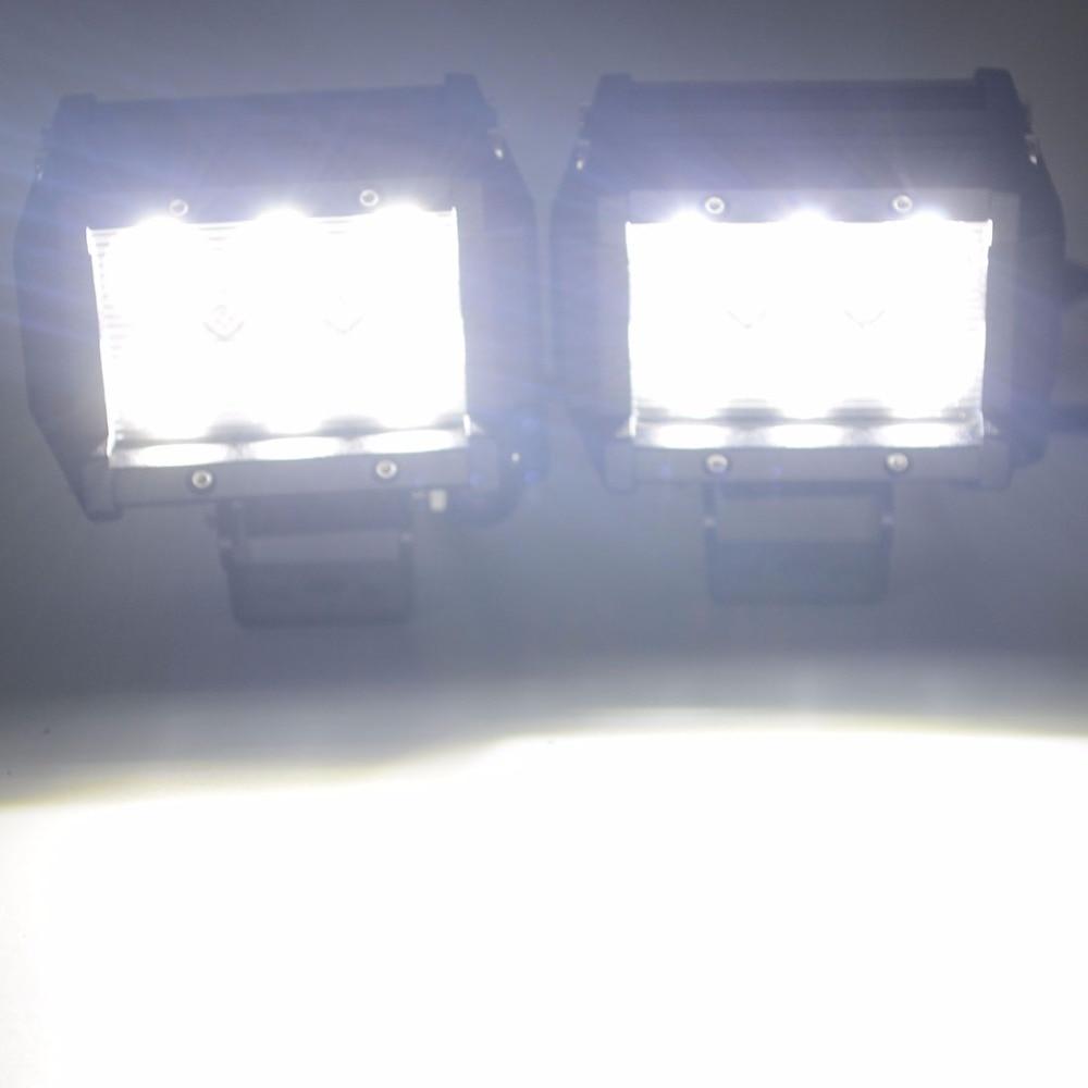 Safego 2pcs LED işiq çubuğu 18w 4Torpaq traktoru üçün yol 4WD - Avtomobil işıqları - Fotoqrafiya 5