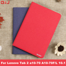 New for Lenovo Tab 2 a10-70 A10-70F/L A10 70 smart Flip leather case cover for lenovo tab 2 A10-70L Tablet 10.1'' Tablet case adis adis sd a10