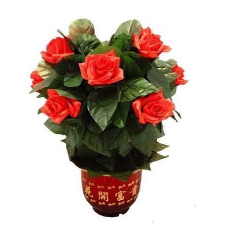 Flor Rosa arbusto-Control remoto-10 flores-truco de Magia, Magia de las flores, Magia de primer plano, pórticos de Magia de escenario, juguetes clásicos Magie