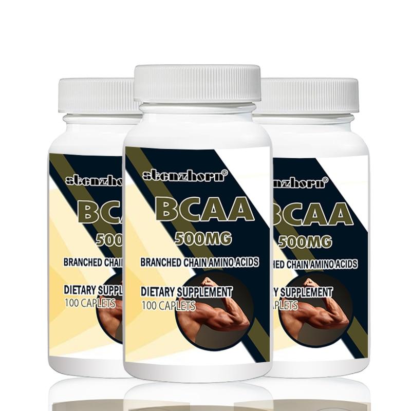 Bad & Dusche Bcaa 500 Mg 100 Stücke 3 Flaschen Tot L-leucin L-isoleucin L-valin Mit Vielseitig Unterstützung Für Training Ausdauer Und Recovery Belebende Durchblutung Und Schmerzen Stoppen
