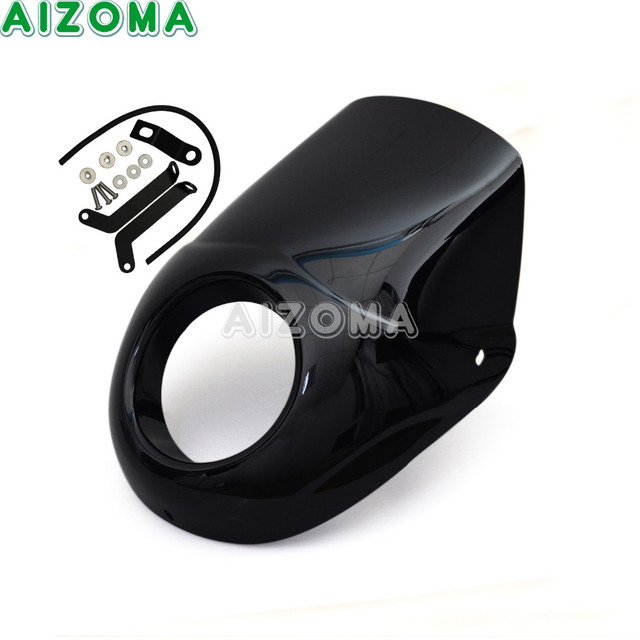 Black Motorcycles ABS Headlight Fairing Kit For Harley Street 500 750 Street Rod XG750A XG750 XG500 Headlamp Cover Mask 1