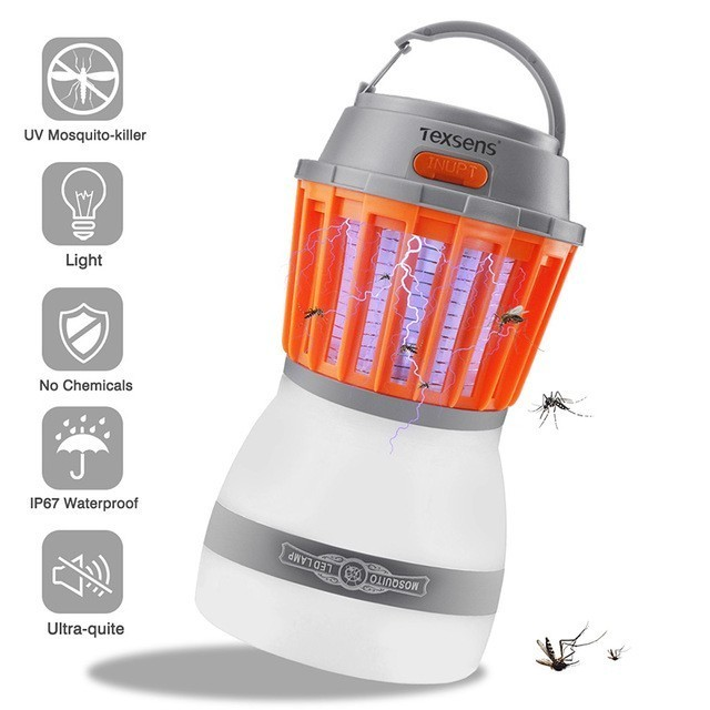 Texsens LED Mosquito Killer Lamps/Light USB 2 in 1 Pest Control Electronics Fly Bug Trap Light Insect Repeller Zapper