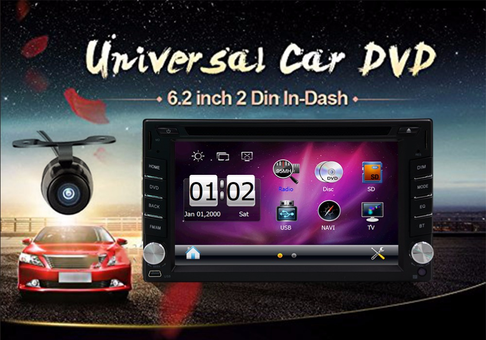 2din universal de Coches Nuevos de Radio Doble 2 din Car DVD Player GPS Mapa Lib