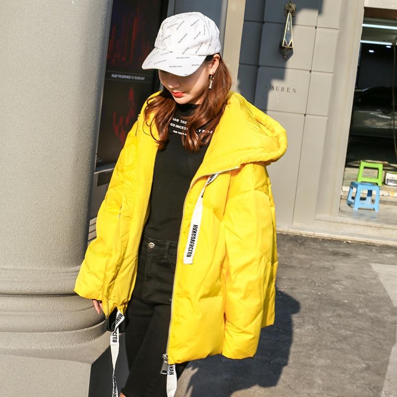 Nueva Lq457 Pan Con De Chaqueta Grueso Grande Para Suelto yellow Invierno Coreano Black silver Mujer Abrigo Talla Corto Brillante Capucha Plumón PqBYnTWY