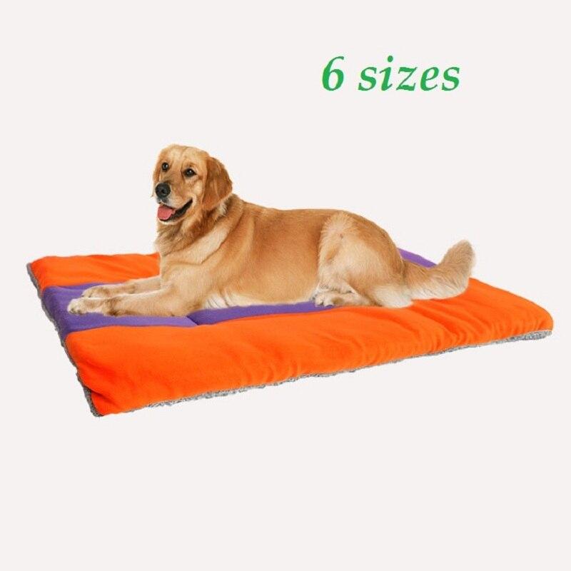Мягкий Средний Большой Собака Кошка Кровать Собаки Коврик Для Собак Дома путешествия Кровать Животное Pet Подушки Кошка Щенок Одеяло Пэт Площадку Мат 6 размеры